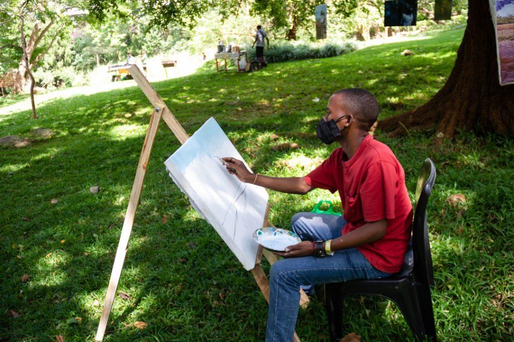 Painting in Zomba Botanic Gardens